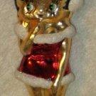 Betty Boop Santa Suit Glass Christmas Tree Ornament