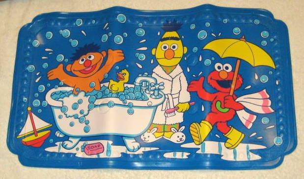 Sold Sesame Street Cushioned Bathtub Bath Mat With Suction
