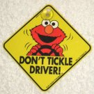 Elmo Don't Tickle Driver Car Window Sign Suction Cup Sesame Street Muppets Jim Henson CTW