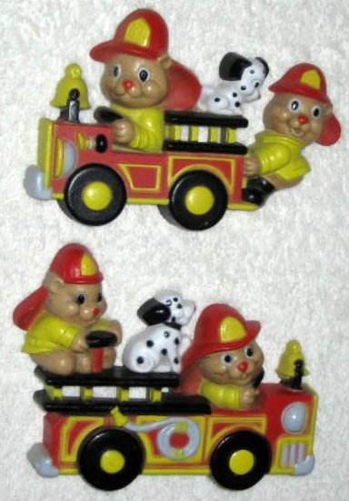 Fire Engines Trucks Firetrucks Bears Dalamatians Wall Plaques Hangings Decor