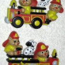 Fire Engines Trucks Firetrucks Bears Dalamatians Wall Plaques Hangings Decor