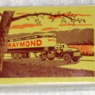 Remembrance Redi Slip Playing Cards Raymond Trucking Freight Shipping Van Lines Deck SEALED