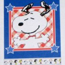 Patriotic Peanuts Gang Patchwork Decorative Garden Flag 13 x 18 Snoopy New NIP