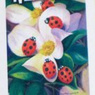 Ladybug Welcome Artist's Touch Mini Decorative Garden Flag 12.5 x 18 Spring Summer New NIP