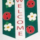 Ladybug Welcome Applique Decorative Garden Flag 28 x 40 Spring Summer New NIP