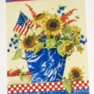 Patriotic Sunflowers Decorative Artist's Touch Garden Flag 25.5 x 38 Polyester NIP Sandi Gore Evans