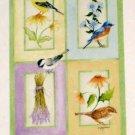 Floral Birds Decorative Artist's Touch Garden Flag 25.5 x 38 Birds Polyester New NIP Kathy Hatch