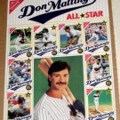 Don Mattingly Topps Collector's Edition Ritz Crackers All Star Baseball Cards Uncut Sheet 1989