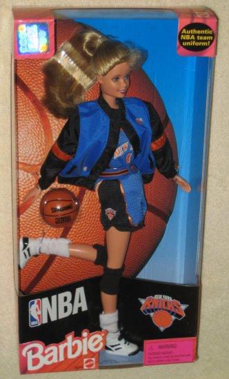 Jeff Gordon Chevrolet >> SOLD NBA Barbie New York Knicks Doll Blonde Knickerbockers Basketball Mattel Authentic Team Uniform