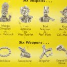 The Simpsons 1st Edition Clue Game Pewter Tokens Weapons Parker Brothers 2000