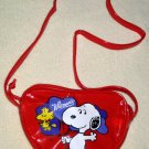 Snoopy Woodstock Vinyl Heart Shaped Shoulder Bag Purse Pocketbook Valentine Peanuts Gang Whitman's