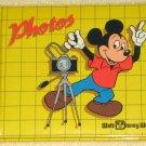 Mickey Mouse Photo Album Book Walt Disney World Photos Photographs Yellow