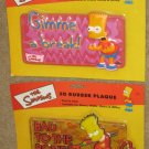 The Simpsons Bart Simpson 3D Rubber Plaque Lot of 2 Plaques Devil Fox TV 2002 NIP