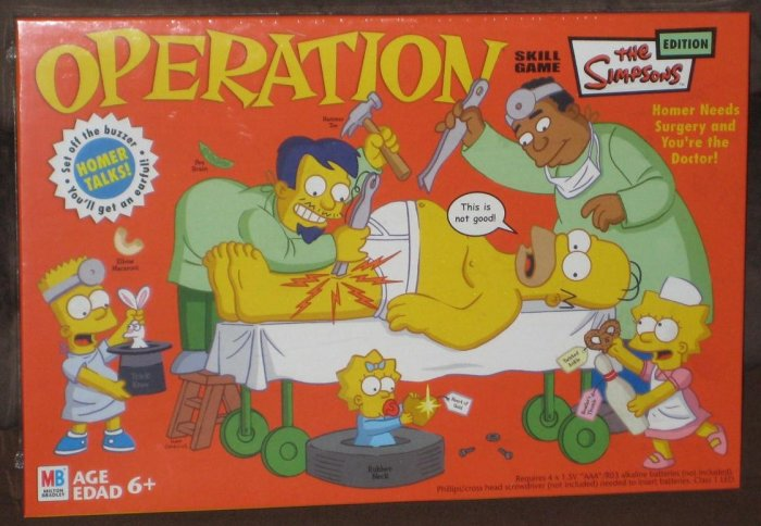 SOLD The Simpsons Edition Operation Game Milton Bradley MB