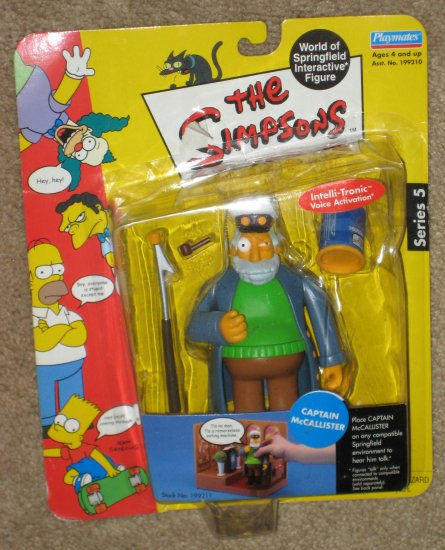 SOLD Sea Captain McCallister Series 5 WOS Interactive Figure The Simpsons Fox TV Show Playmates Toys
