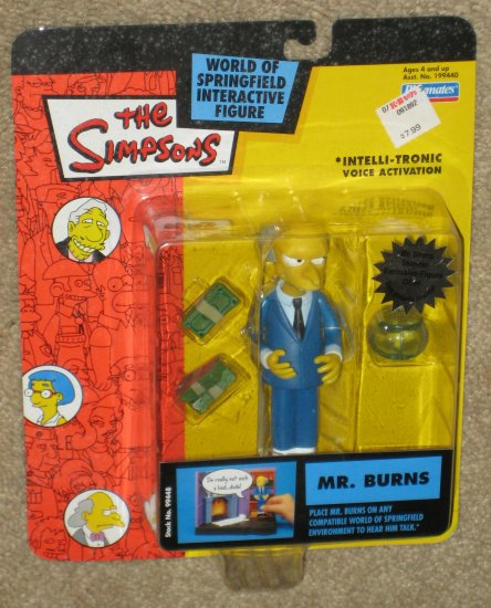 SOLD OUT Mr. Burns Re-Release Blue Suit Variant WOS Interactive Figure The Simpsons Playmates