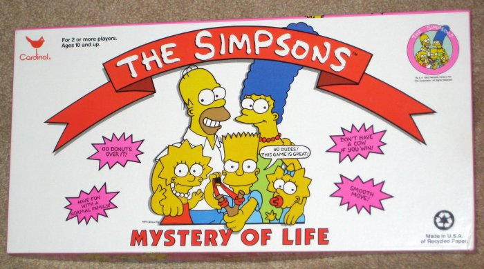 SOLD The Simpsons Mystery of Life Board Game Fox TV Show 1990 Cardinal Industries Never Played