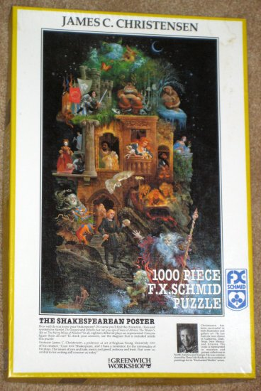 SOLD The Shakespearean Poster 1000 Piece Jigsaw Puzzle FX Schmid 90010 COMPLETE Greenwich Workshop