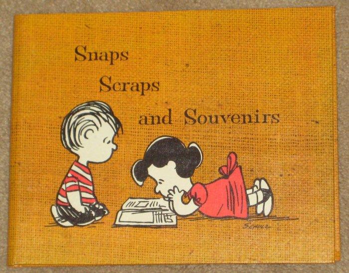 Peanuts Gang Lot Photo Album Scrapbook Memo Pad Snaps Scraps Souvenirs Camping Charlie Brown Snoopy