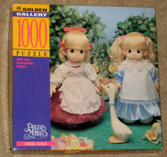 Precious Moments Goose Girls 1000 Piece Jigsaw Puzzle Golden 5650A-1 COMPLETE