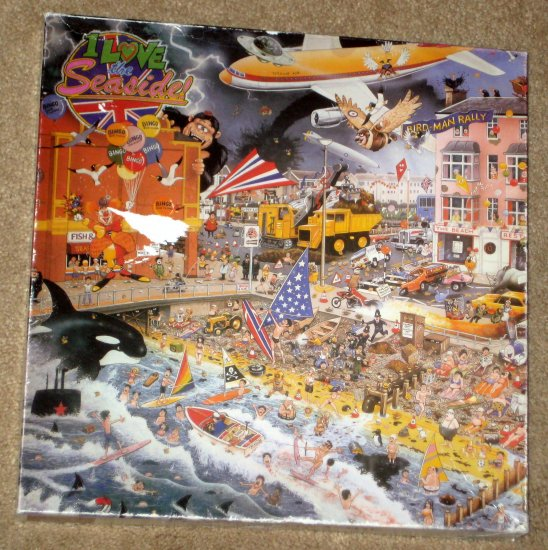SOLD I Love the Seaside 1000 Piece Jigsaw Puzzle Comical Humorous Gibson G573 Mike Jupp COMPLETE