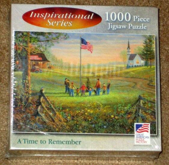 A Time to Remember 1000 Piece Jigsaw Puzzle Inspirational Series US Flag 8645 SEALED