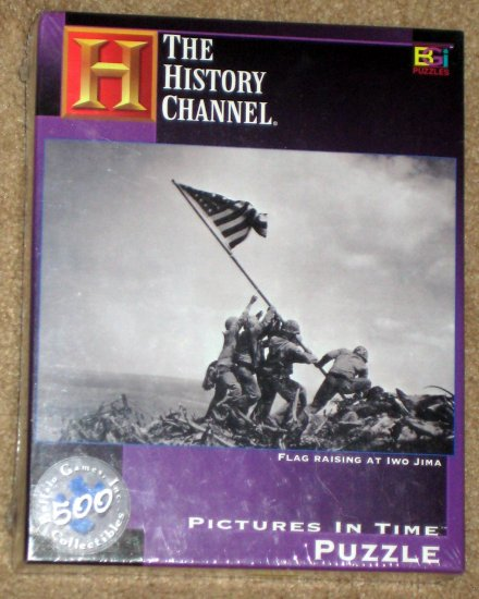 SOLD Flag Raising at Iwo Jima 500 Piece Jigsaw Puzzle Pictures in Time History Channel US SEALED