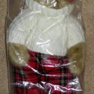 Fergus 15 Inch Plush Bear Regis Corporation Trade Secret New in Sealed Bag Sweater Plaid
