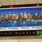 New York 750 Piece Panoramic Glow in the Dark Jigsaw Puzzle Over 3 Feet Wide Buffalo Games SEALED
