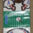 Vintage Houston Oilers Lot Drinking Glasses Tumblers + Room Decorating Kit Jumbo Team Appliques