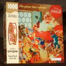 Pause That Refreshes 1000 Piece Jigsaw Puzzle Springbok Coca Cola Santa Claus XZL6310 Complete 1999