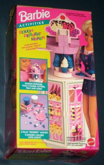 SOLD Barbie Activities Dough Dessert Maker 11105 Ice Cream Doughnuts Cupcakes Cookies Mattel 1993