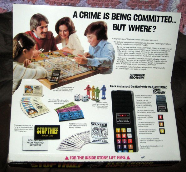 SOLD STOP THIEF Electronic Cops and Robbers Game Crime Scanner 1979 Parker Brothers 3500