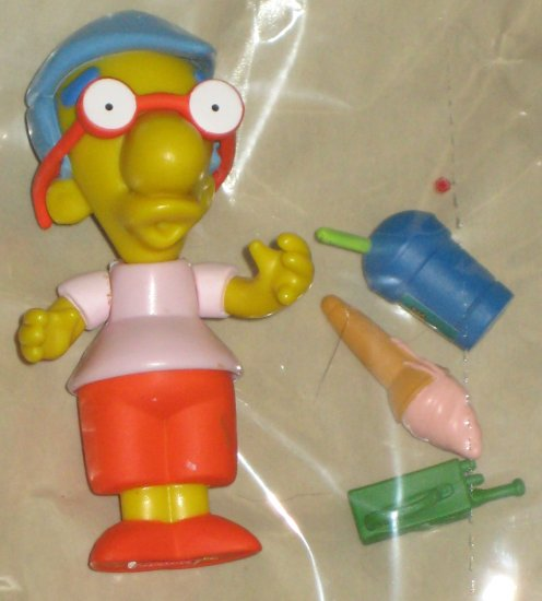 Milhouse World of Springfield Interactive Figure WOS Series 3 Loose Playmates Simpsons Accessories