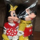 The Spirit of Mickey Minnie Mouse 9 Inch Plush Dolls Bean Bags Walt Disney Factory Sealed Bag NEW