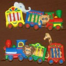 Burwood Products Circus Animal Train Wall Plaque Set 3109-1 3109-2 Elephant Lion Giraffe Bear 1991
