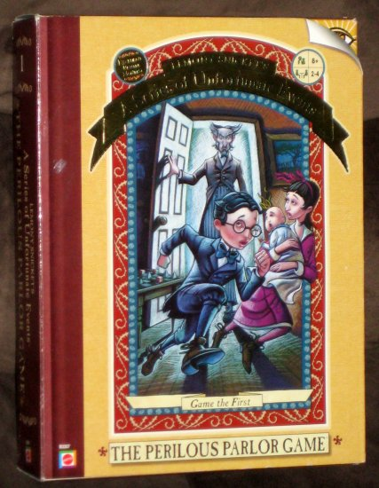 Lemony Snicket's Series of Unfortunate Events Perilous Parlor Game Pewter Movers Complete Mattel