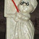 Russ Berrie Plastic Weighted Figurine Lot World's Best Teacher 1972 Mother 1970 R&W Berries