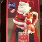 Lenox Ceramic Pitcher with Mug Lid Rudolph The Red Nosed Reindeer Hand Painted Holiday NIB