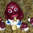 California Raisins Ceramic Figure Lot of 7 Hand Painted
