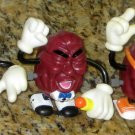 California Raisins Lot Wind Up Walkers PVC Figures Coin Bank Walking Calrab Applause Nasta 1988