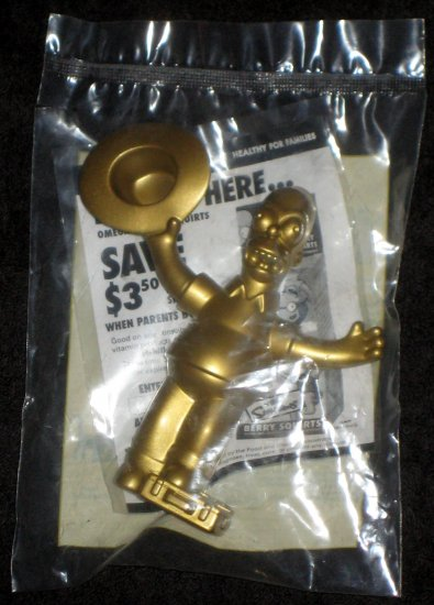Homer Simpson Gold Golden Burger King Talking Toy 2007 The Simpsons Movie Chase Figure Nip