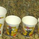 Burger King Simpson Soft Drink Soda Cup Lot 2007 The Simpsons Movie Homer Bart Lisa Kang Kodos