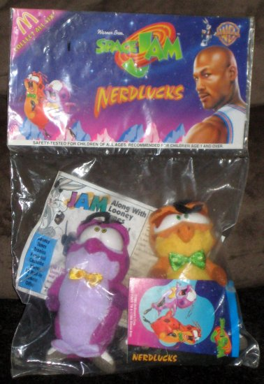 Space Jam McDonald's Plush Nerdlucks Looney Tunes Warner Bros Tune Squad Michael Jordan 1996 NIP