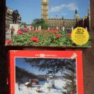Scenery Landmark Jigsaw Puzzle Lot of 6 All COMPLETE 3 Factory Sealed Big Ben Whitman MB