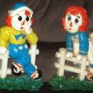 Vintage Raggedy Ann & Andy 12 Inch Plastic Wall Plaques Syroco 1977 Bobbs Merrill 7506 7509 7510