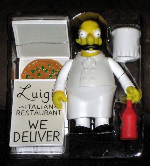 Italian Chef Luigi World of Springfield Interactive Figure WOS Series 14 Loose Playmates Simpsons
