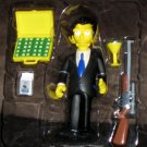World of Springfield Louie Mobster Interactive Figure WOS Series 14 Loose Playmates Simpsons