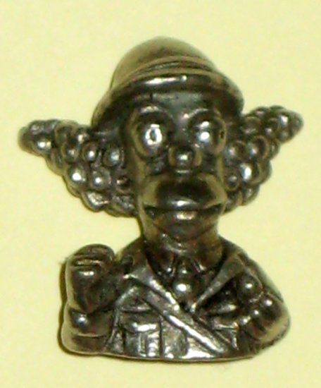Krusty the Clown Colonel Mustard Miniature Pewter Figure The Simpsons Edition Clue Playing Piece