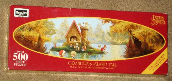 SOLD Grandpa's Island 500 Piece Jigsaw Puzzle Lot Spring Winter Fall Precious Moments COMPLETE